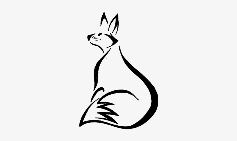 Collection Of Free Fox Drawing Tribal Download On Ubisafe - Fox Line Art Tattoo, transparent png #249021