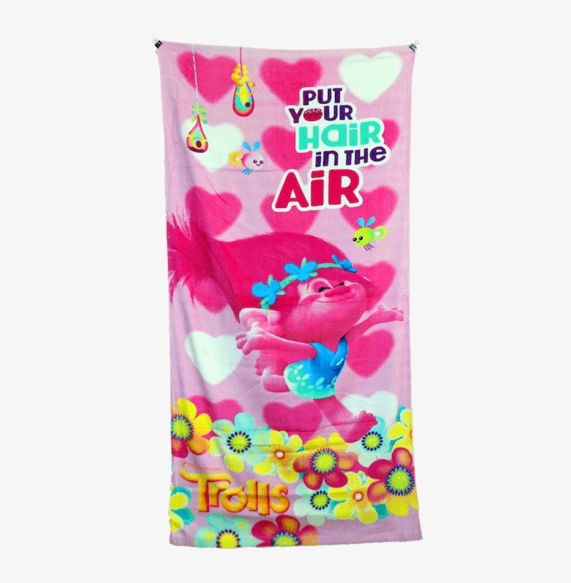 Trolls Towel - Trolls Girls Beach Towel Poppy Pink Floral 28 X 58, transparent png #249866