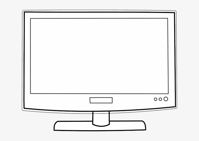 Tv Flat Hdtv Lcd Plasma Screen Television Clipart Of