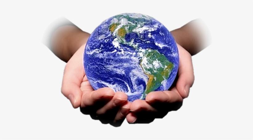 Publicat De Eu Ciresica La - Planeta Tierra En Manos Png, transparent png #2400614
