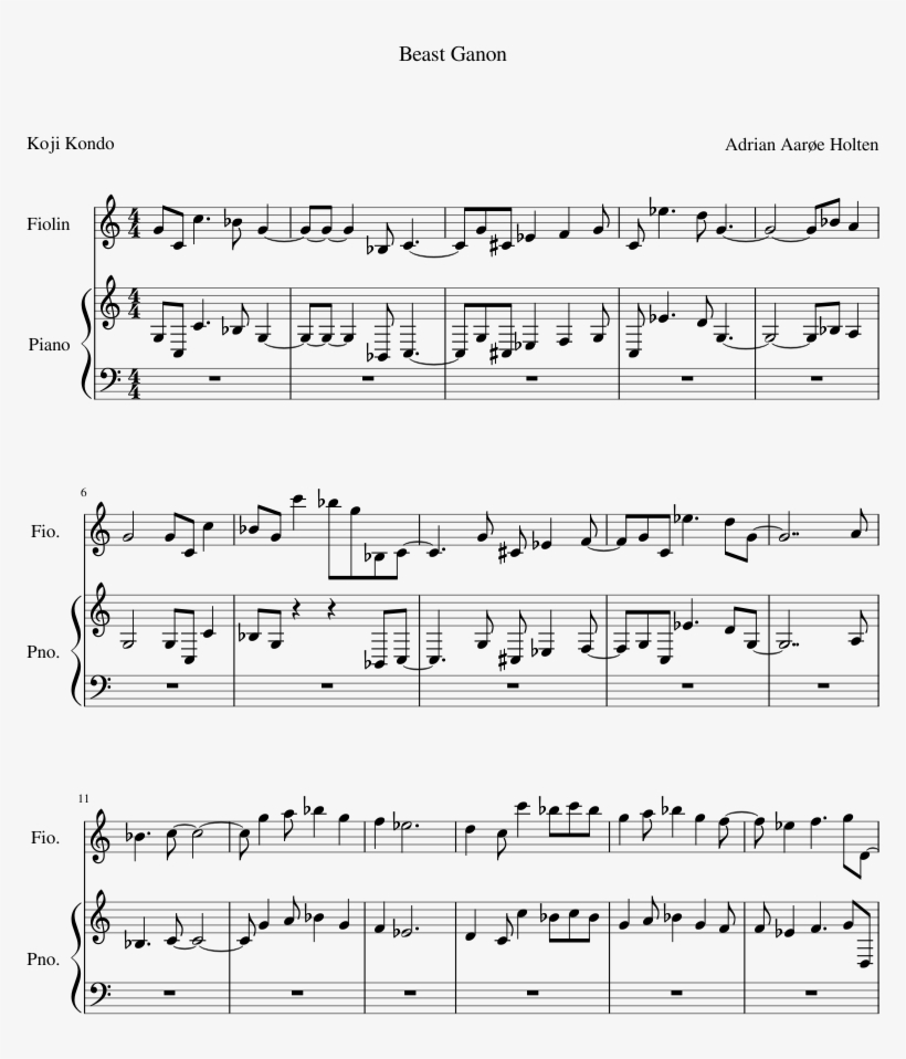 20th Century Fox Theme Sheet Music 1 Of 1 Pages - Twenty Century Fox Theme, transparent png #2403360