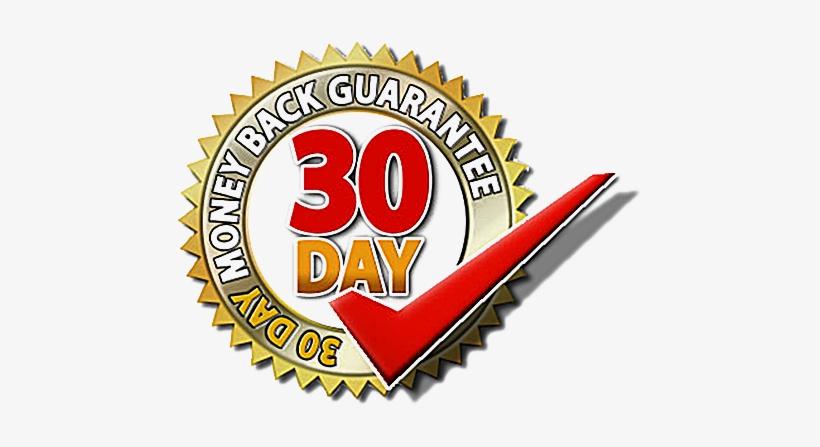 Money Back Guarantee - 30 Days Money Back Guarantee Symbol, transparent png #2404552