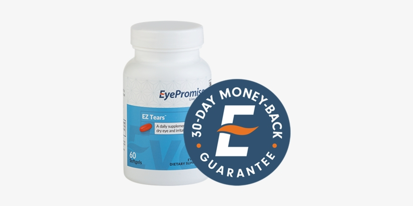 30 Day Dry Eye Relief Money Back Guarantee - Eye Promise Vizual Edge - 30 Softgels, transparent png #2404675