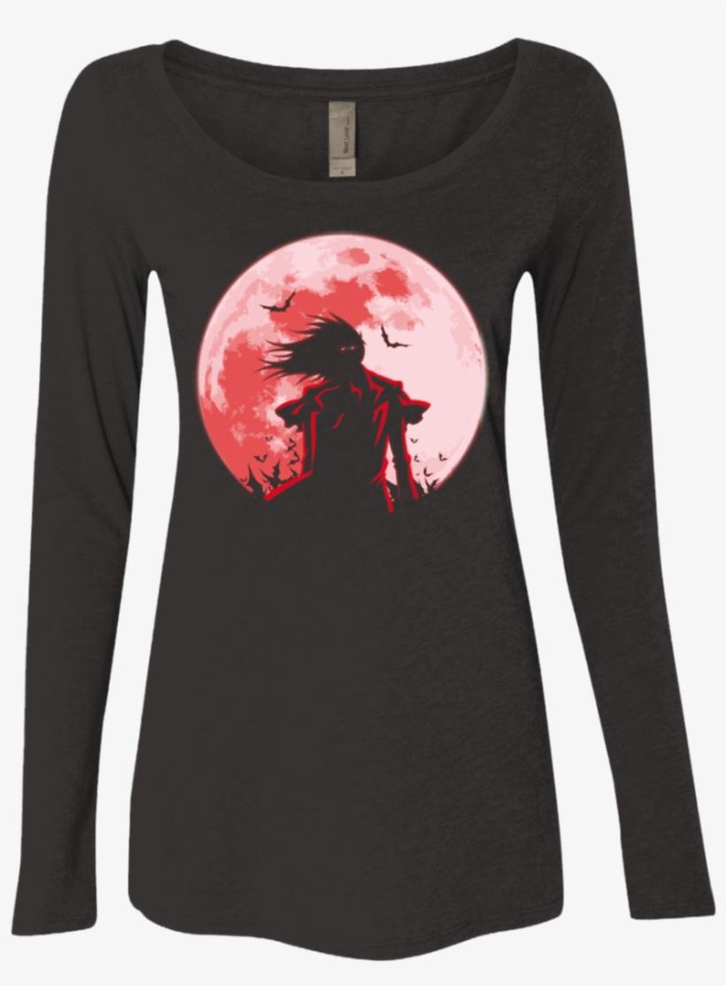 Hellsing Alucard Women's Triblend Long Sleeve Shirt - Paw Universe Ladies' Scoop Neck Long Sleeve, transparent png #2407578