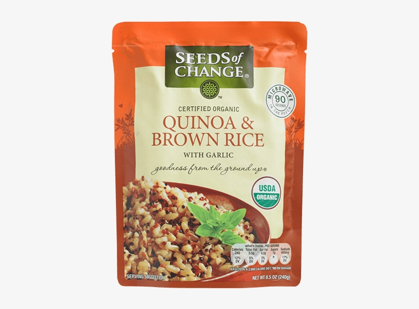 Quinoa & Brown Rice - Seeds Of Change - Organic Quinoa And Brown Rice - 8.5, transparent png #2409004