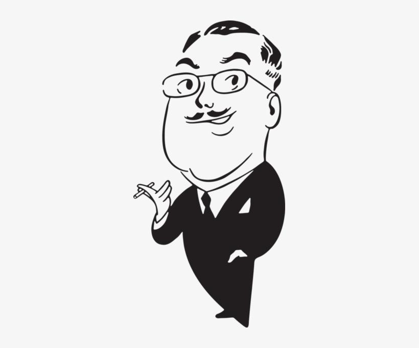 Cartoon Man Smoking Clip Art From - Black And White Cartoon Pictures Smoking, transparent png #2409212