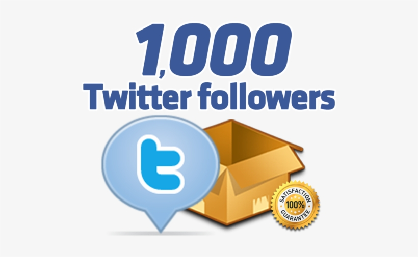 Follow Me On Seoclerks For 1,000 Twitter - 1000 Twitter Followers, transparent png #2413972