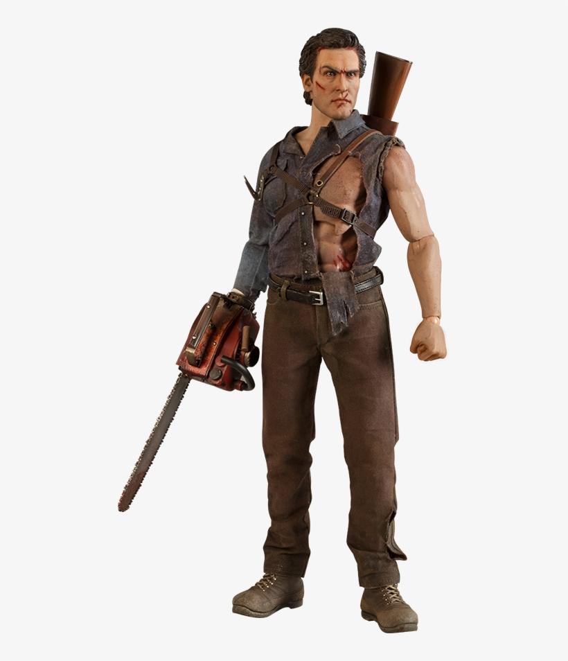 Evil Dead 2 - Ash Williams 1/6th Scale Action Figure, transparent png #2414226