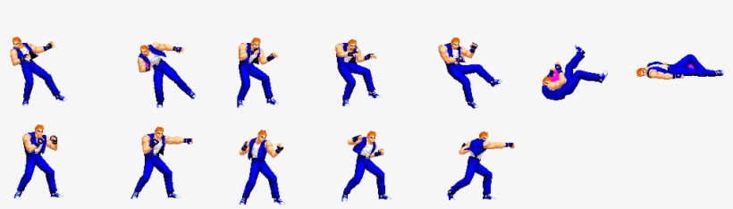 These Animations I Have Modified Though ,from Original - Sprite Sheet Fighting Game, transparent png #2414384