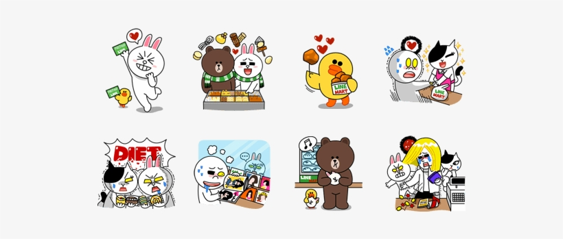 Download Them Like Any Other Stickers, And Use Them - Line Character Sticker Png, transparent png #2415555