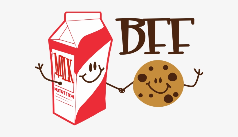 Best Friend Ban - Cookie And Milk Bff, transparent png #2417198