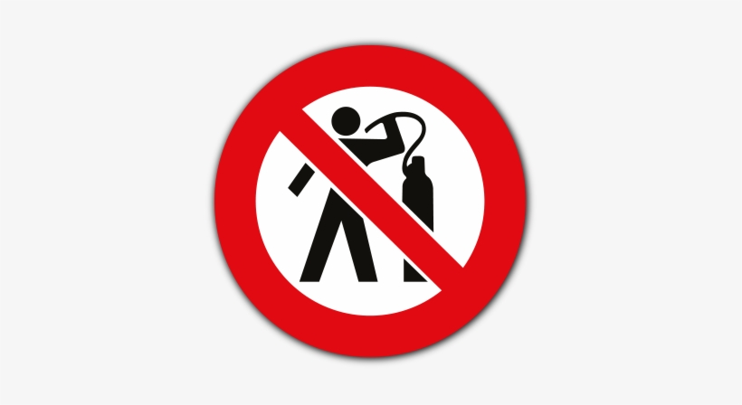 Use Of Compressed Air To Dust Body Prohibited Safety - Do Not Use Compressed Air For Cleaning, transparent png #2418915