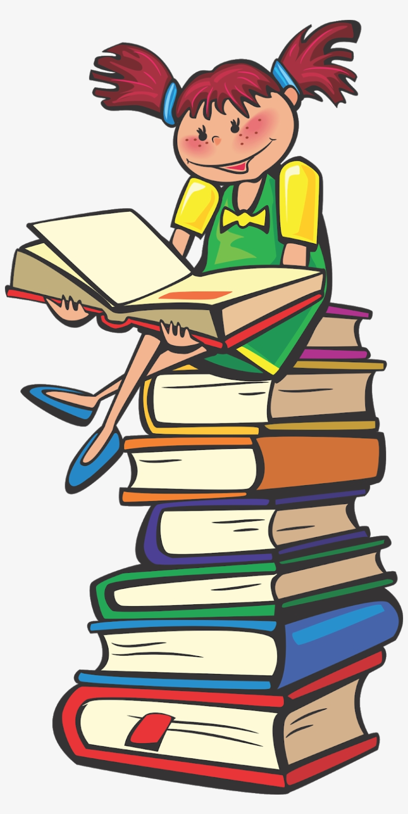 School Students Vector, Student Vector, Books Vector, - Reading Clipart Png, transparent png #2419948