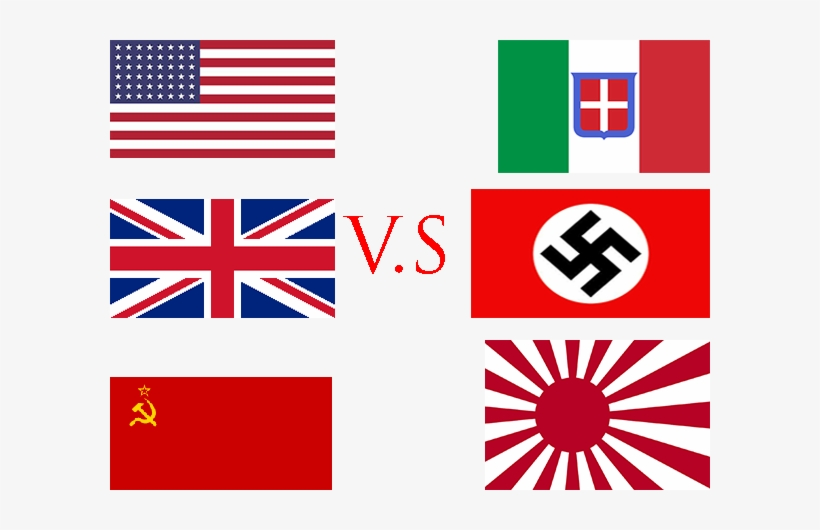 allies and axis powers flags