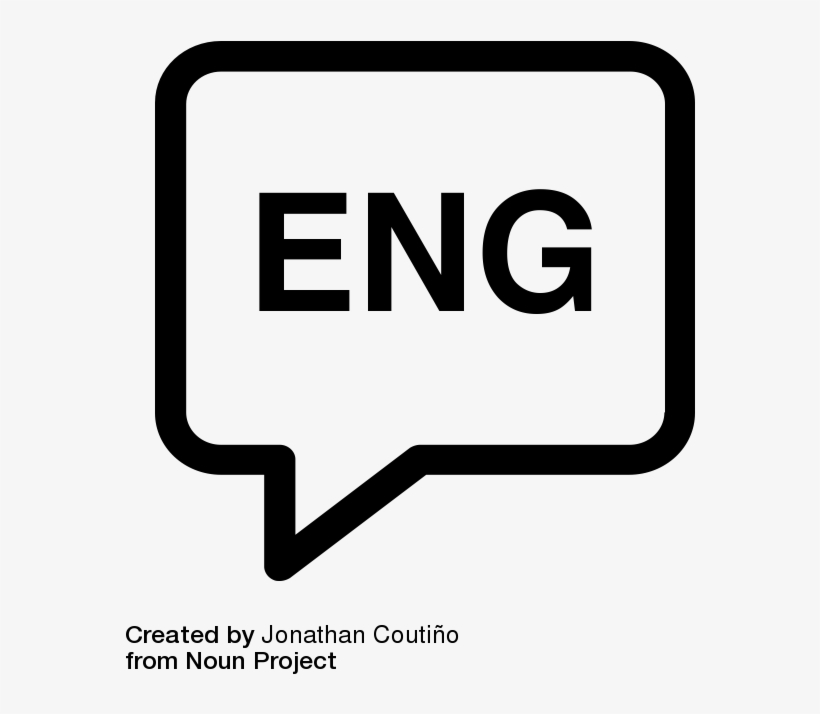 Englishspeechbubble - English Language Icon Png, transparent png #2425099