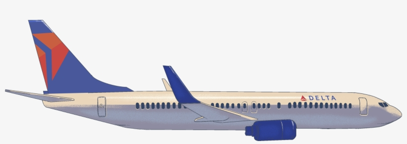 This Proprietary Delta Technology Has Transformed The - Delta Airplane Clipart, transparent png #2433615