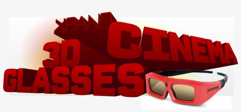 Cinema 3d Glasses - 3 D Glasses, transparent png #2434874