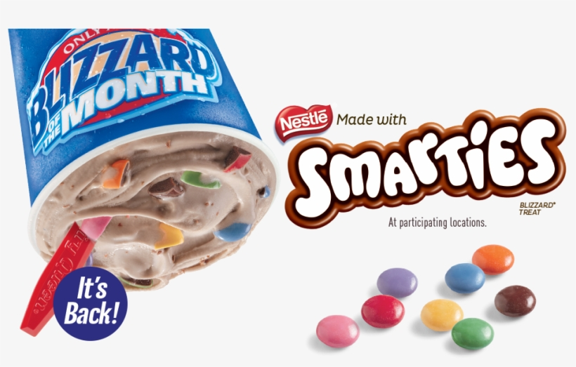 Next Week At Dairy Queen Canada You Can Enjoy Your - Dairy Queen Smarties Blizzard, transparent png #2435002
