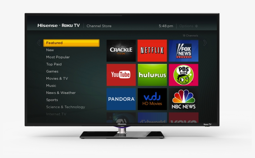 Furthermore, The Roku Tv Can Be Controlled Via Mobile - N App Store Hisense Smart Tv, transparent png #2435759