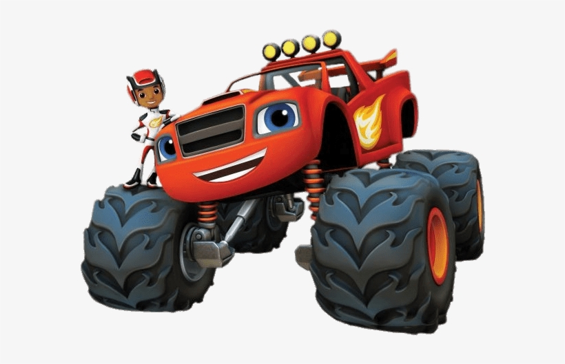 Aj On Blaze - Blaze And The Monster Machines Clipart, transparent png #2437643