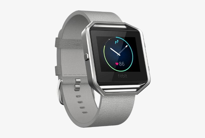 Fitbit Fitbit Accessories Mist Grey / Large Fitbit - Fitbit Blaze Leather Band Frame Mist Grey, transparent png #2438480