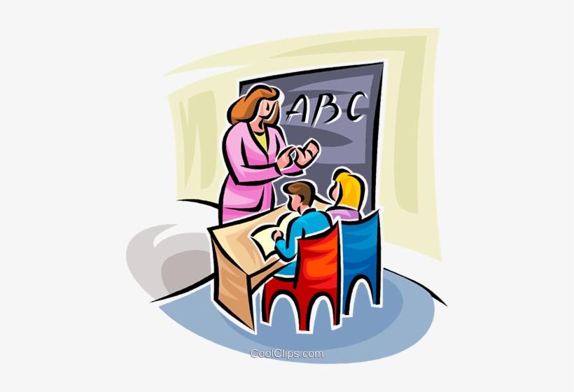 Teacher Teaching Sign Language Royalty Free Vector - Teacher Teaching, transparent png #2439026