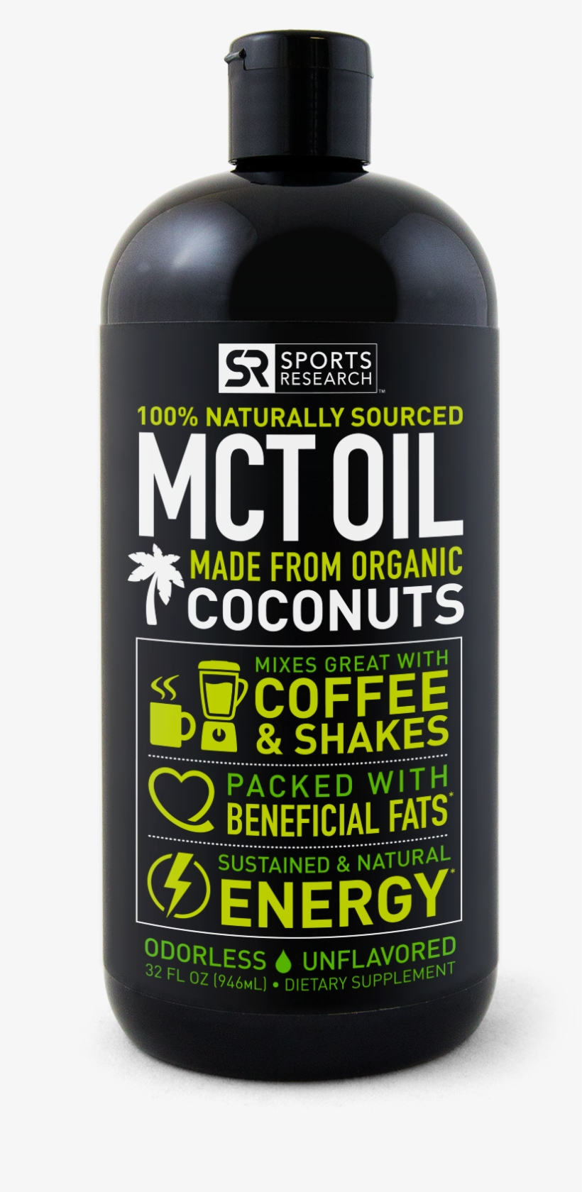 Sports Research Liquid Softgel Supplements That Have - Premium Mct Oil Derived Only From Coconut Oil, transparent png #2440507