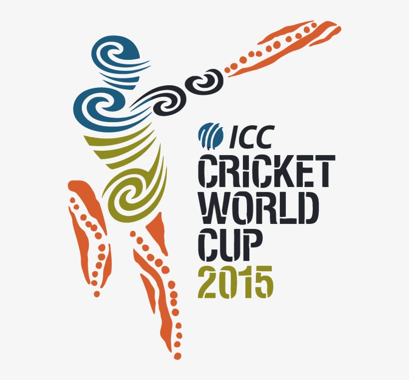 2015 Cricket World Cup Logo Vector - Fifa World Cup Vs Cricket World Cup, transparent png #2443350