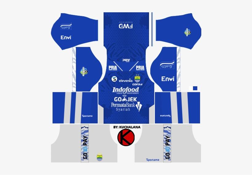 Persib Bandung 2018 Kit - Kit Dream League Soccer 2018, transparent png #2443693