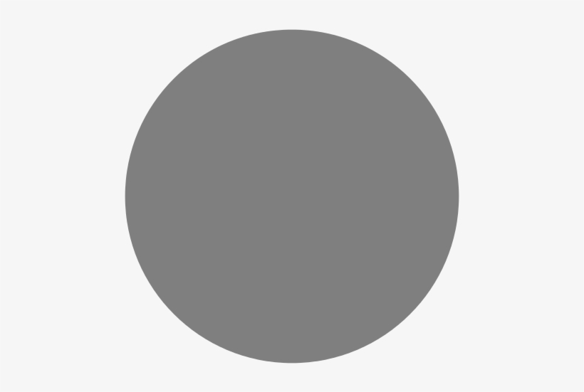 This Image Rendered As Png In Other Widths - Plain Grey Circle, transparent png #2444178
