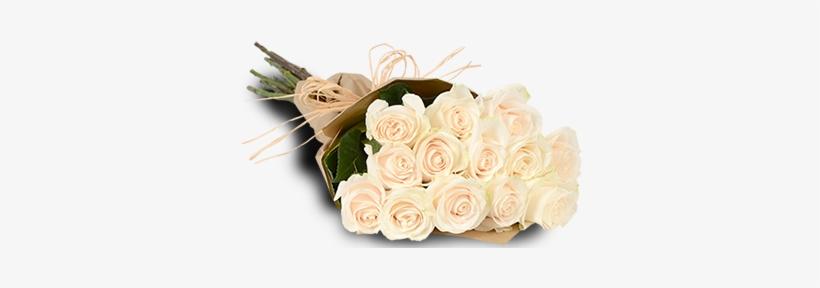 White Roses - 1 Dozen White Roses Bouquet, transparent png #2445262