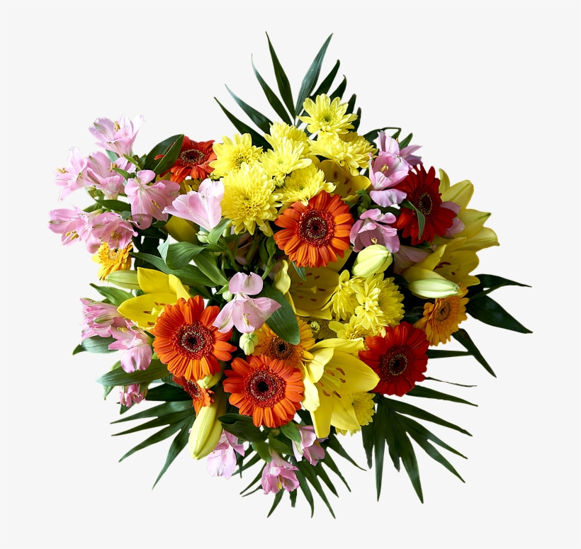 Bouquet, Flower, Plant, Nature, Ornament, Leaf, Color - Vase And Flowers With Happy Teachers Day, transparent png #2445327