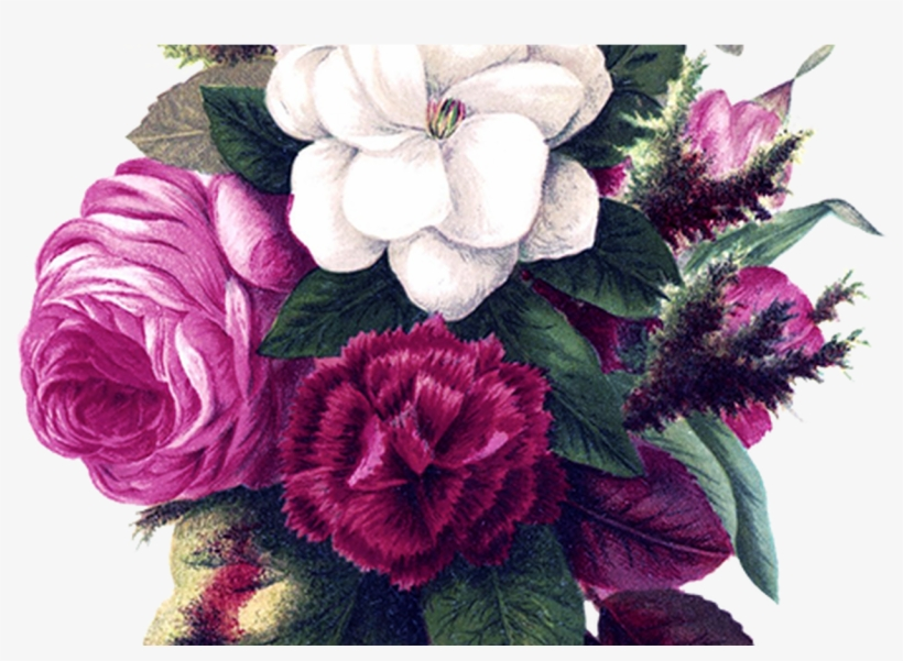 Collection Of Free Drawing Flowers Vintage Flower Download - Watercolor Border Flower Background, transparent png #2445404