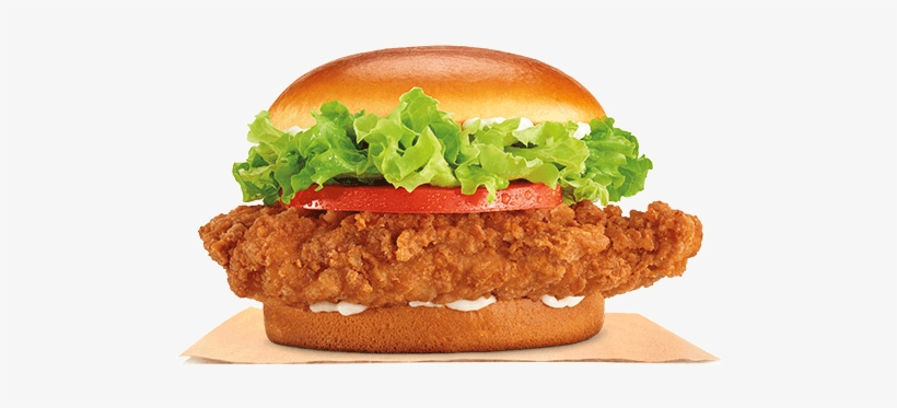 Our New Crispy Sandwich Is A Premium White Meat Chicken - Burger King Crispy Chicken Burger, transparent png #2445693