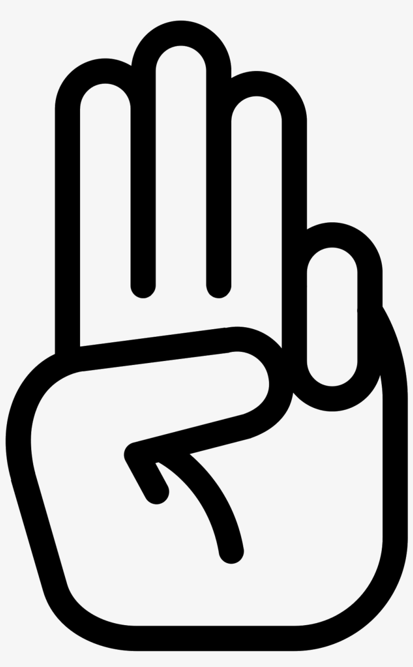 It's A Logo Of The Scout Sign - Hand Peace Sign Png, transparent png #2445914
