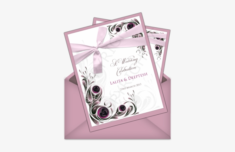Letter Style Email Indian Wedding Invitation Design - New Year 2012 Greeting Cards, transparent png #2447147