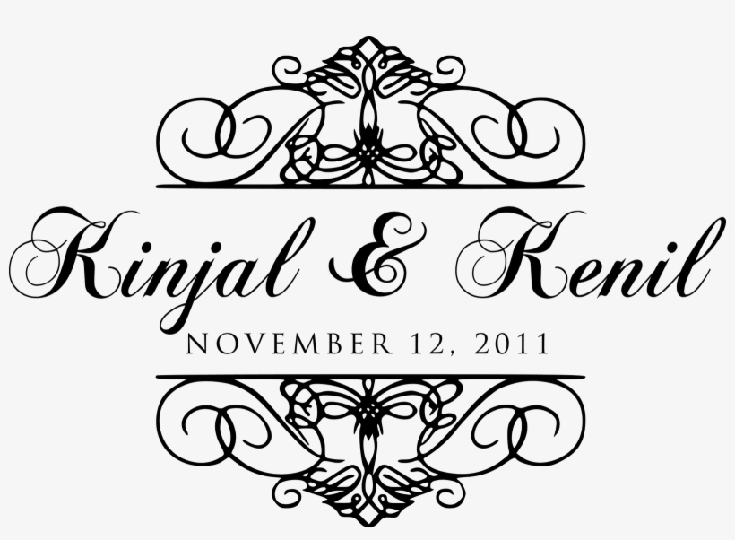 The Bride And Groom Requested Their Names To Be In - Wedding Name Design Png, transparent png #2451557