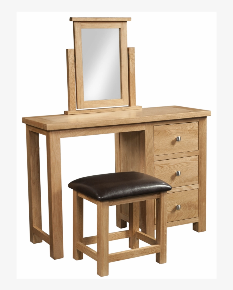Oxford Oak Dressing Table, Stool & Mirror Castles Furniture - Oak Dressing Tables, transparent png #2453191