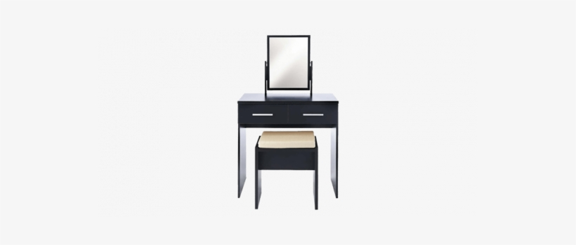 Contemporary Dressing Table With Mirror And Waterfall - Computer Desk, transparent png #2453529
