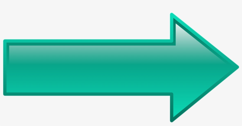 Direction Clipart Teal Arrow - Arrow Pointing Right, transparent png #2453958