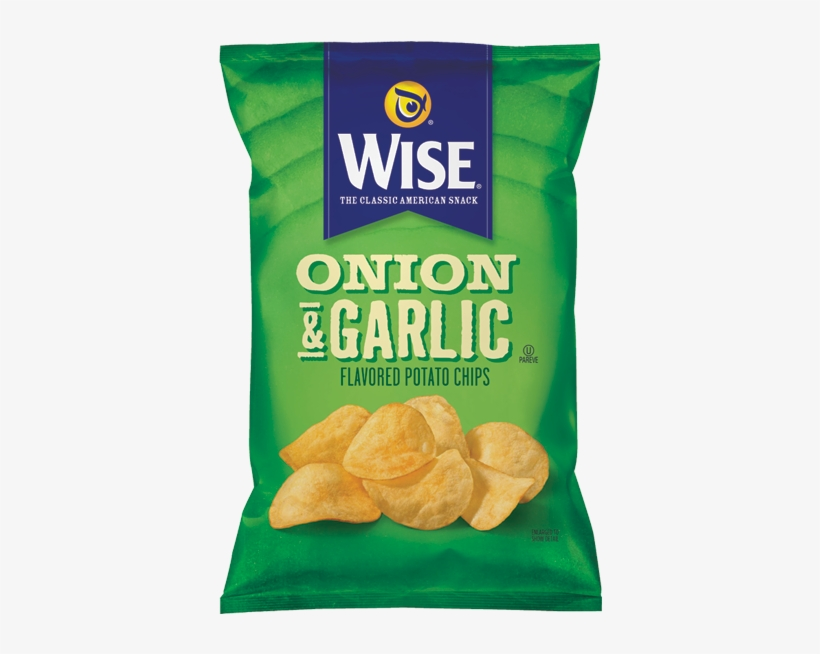 Potato Chips Onion & Garlic - Wise Onion And Garlic Chips, transparent png #2454481