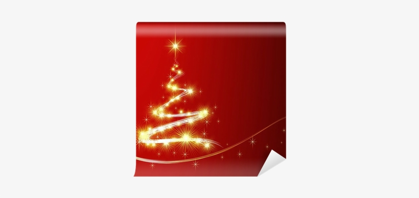 Shining Christmas Tree With Golden Sparkles - Christmas Tree, transparent png #2455950