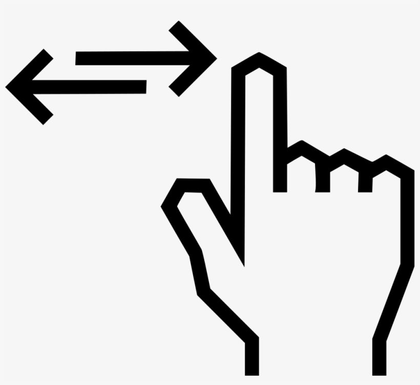 Clipart Transparent Swipe Fingure Left Right Png Icon - Swipe Left And Right, transparent png #2457770