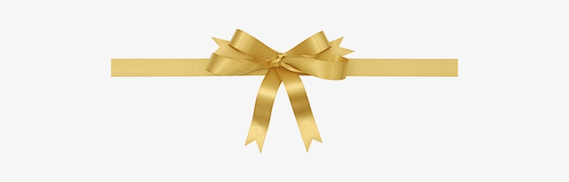 Gold Christmas Bow Png - Gift Ribbon, transparent png #2460905