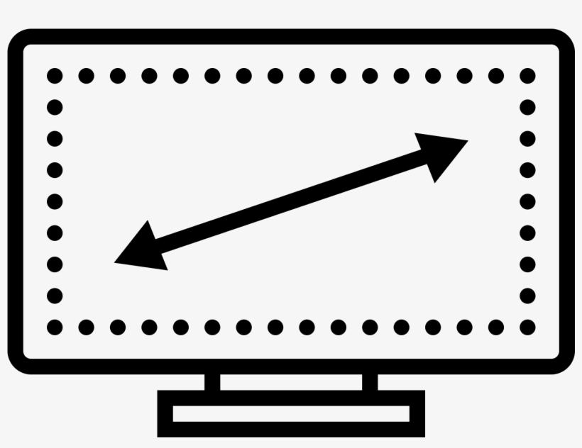 It's A Drawing Of A Computer Monitor Or T - Cadre Icône, transparent png #2462869