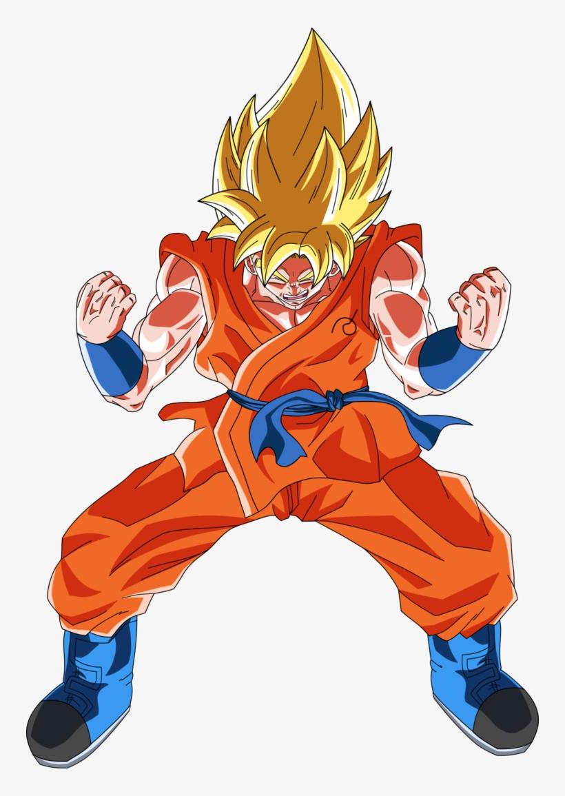 Goku Power Up Png - Goku Ssj Power Up, transparent png #2465401