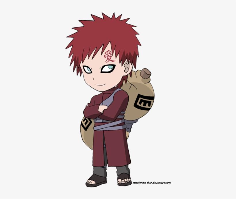 Gaara Shippuden Chibi By Mitte-chan - Naruto Gaara Chibi, transparent png #2469736