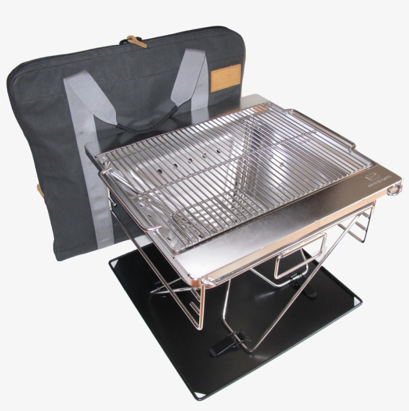 Red Roads Fire Pit Blaze N Bbq Grill Combo With Bag - Folding Camping Fire Pit, transparent png #2473188