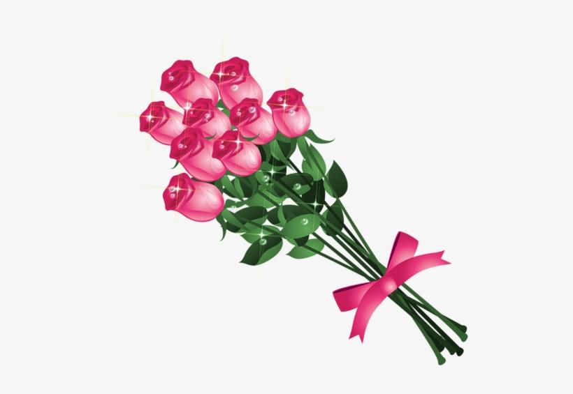 Transparent Pink Roses Bouquet Png Clipart Picture - Bouquet Of Roses Png Vector, transparent png #2478045