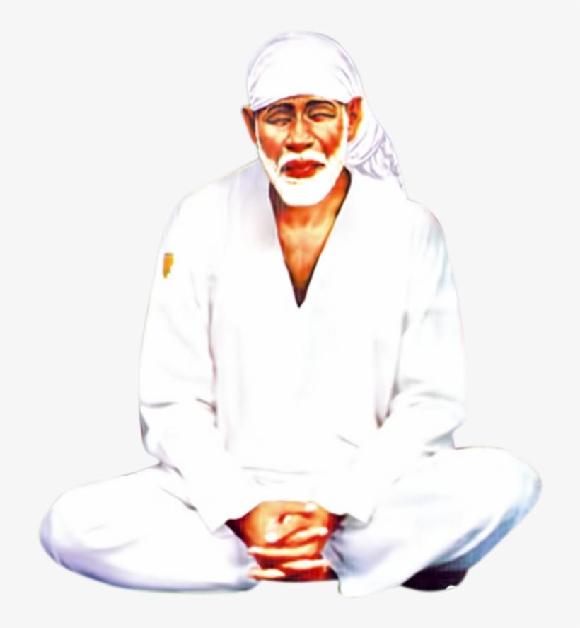 Lord Sai Baba Dyana Png Images Transparent Background - Sai Baba Png Hd, transparent png #2478689